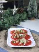 Zoete tomaten carpaccio