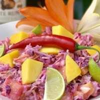 Zoete Caribische koolsalade met fruit