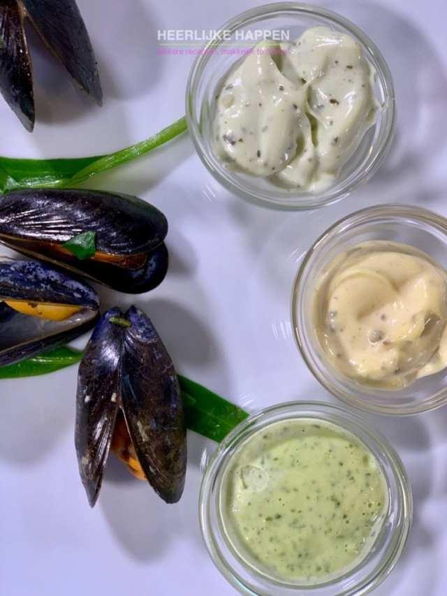 Mosselen met zeekraal en lamsoren