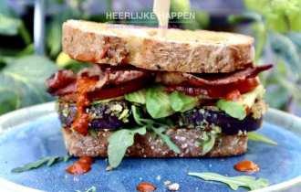 Luxe Amerikaanse BLT sandwich