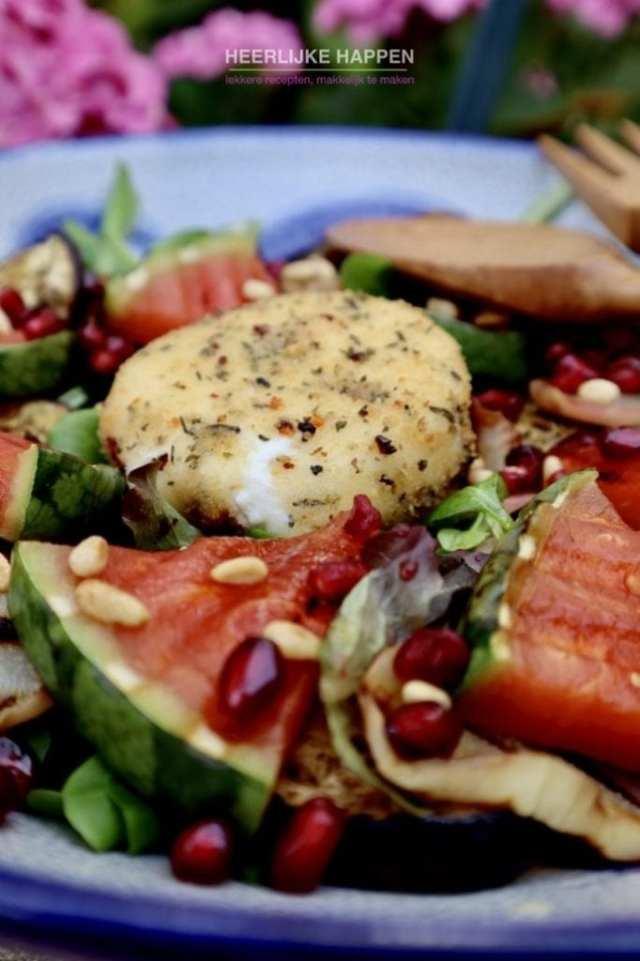 burrata gegrilde groenten