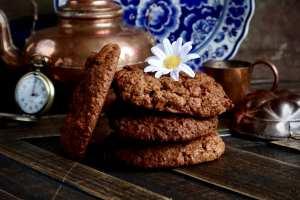 Lekkere zoete speltmeel havermout chocolade koeken