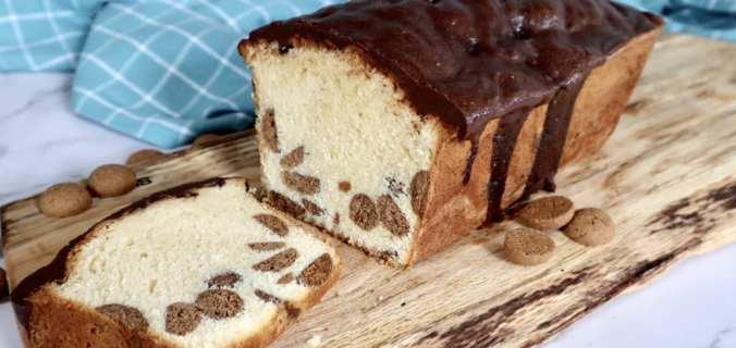 Kruidnoten cake met chocolade ganache