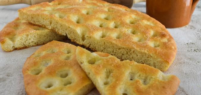 Italiaanse focaccia het brood van goud
