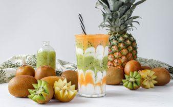 Tropische Sungold kiwi smoothie