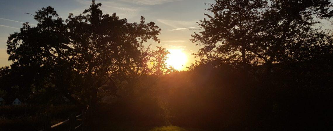 Sonnenuntergang über Heersum