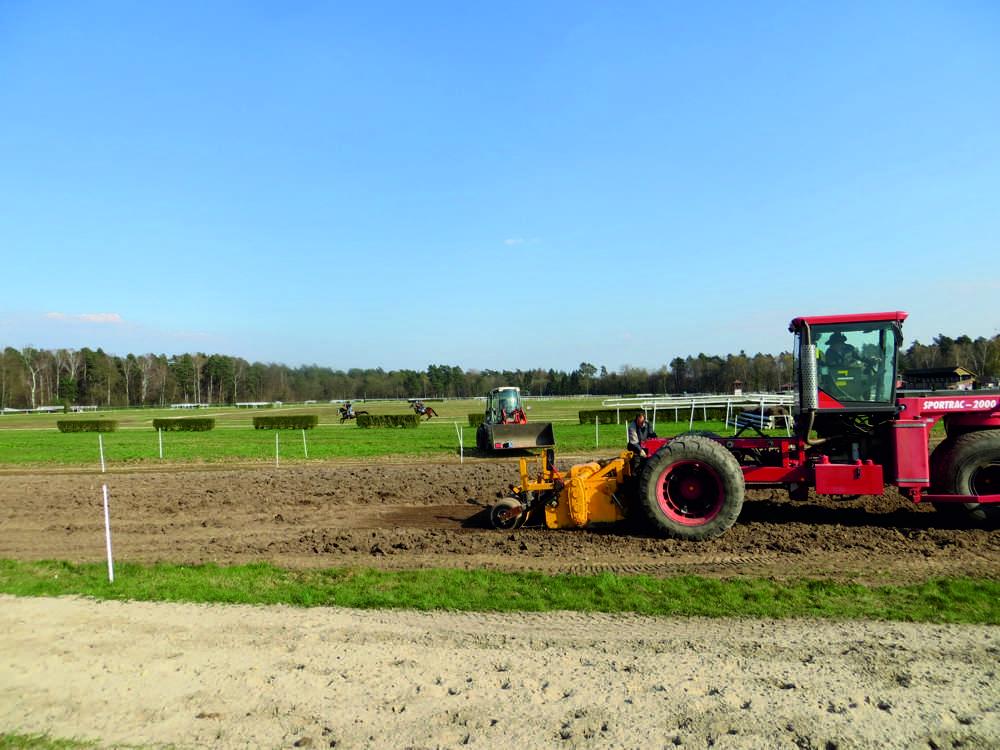 Rénovation piste de course