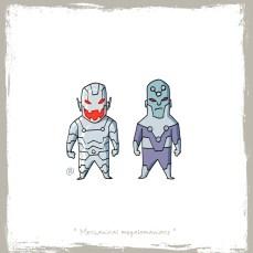 little_friends___ultron_and_brainiac_by_rawlsy-d64hbw3