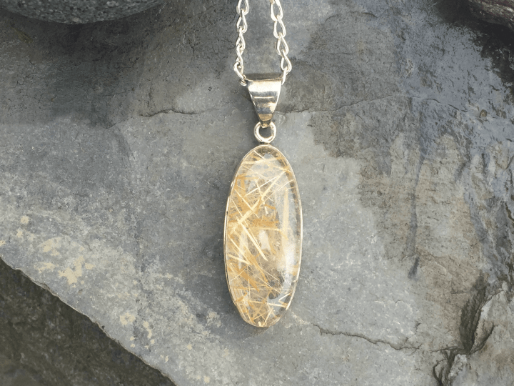 Rutilated Quartz, Pendant, Necklace, Silver, Sterling Silver, Providence, Jewelry Store, Jewelry, Jeweler, Platinum, Gold, Diamonds, Engagement, Wedding, Hegeman & Co.