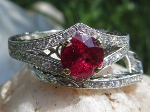 Ruby, Rubies, Burmese Ruby, Burmese Rubies, Diamond, Diamonds, Wedding Ring, Wedding Rings, Engagement Ring, Engagement Rings, Ring, Rings, Gold, White Gold, 18Kt Gold, 18Kt White Gold, Wedding Band, Wedding Bands, Contour Band, Contour Bands, Band, Bands, Wedding Ring Set, Wedding Ring Sets, Providence, Jewelry Store, Jewelry, Jeweler, Fine Jewelry, Custom, Custom-Made, Handmade, Platinum, Engagement, Wedding, Hegeman & Co.