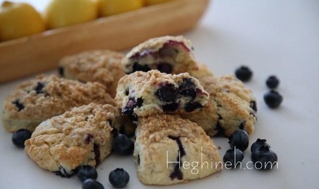 Blueberry Lemon Scones Recipe by Heghineh