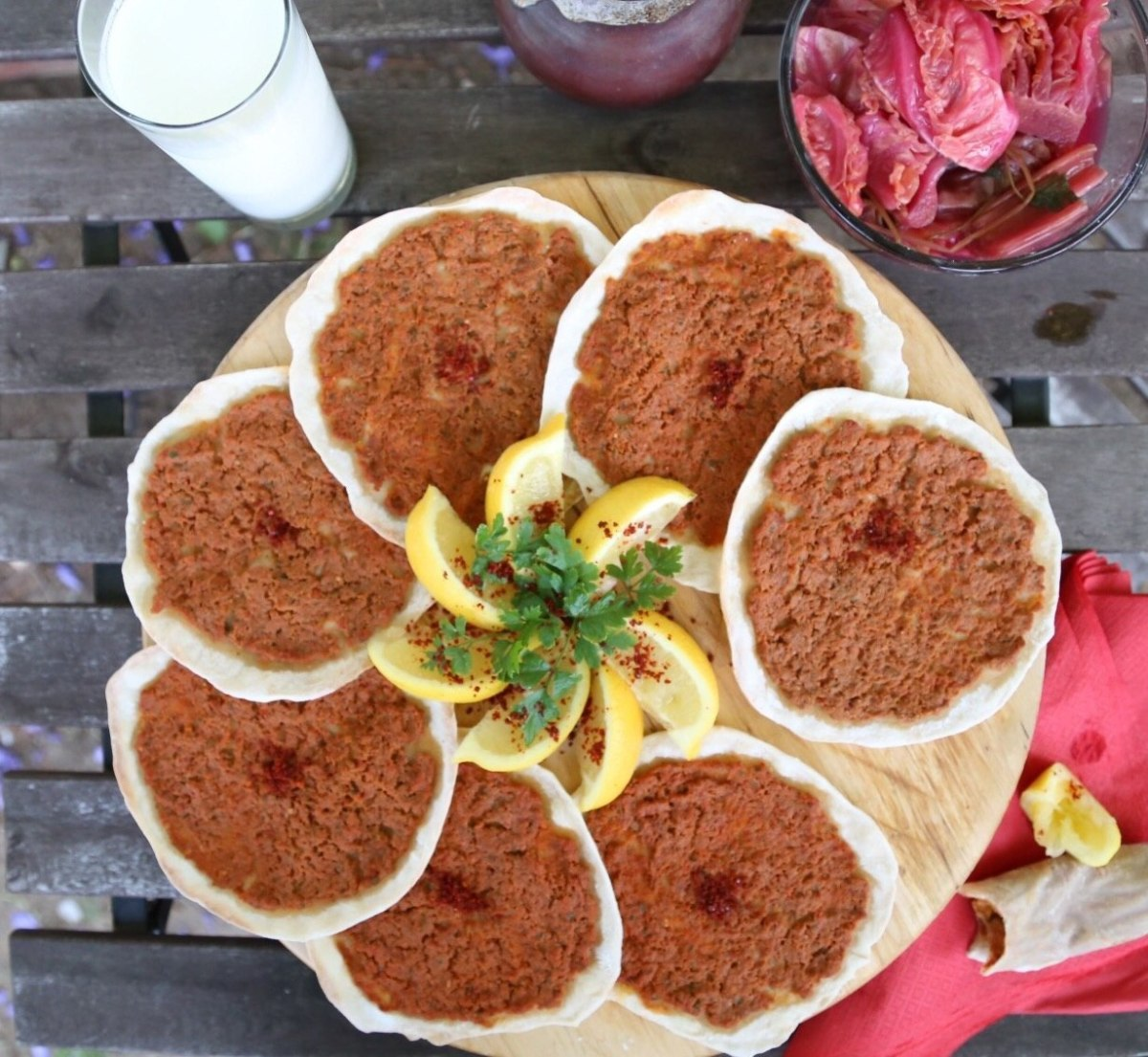 Homemade Lahmajun  Meat Pie Recipe