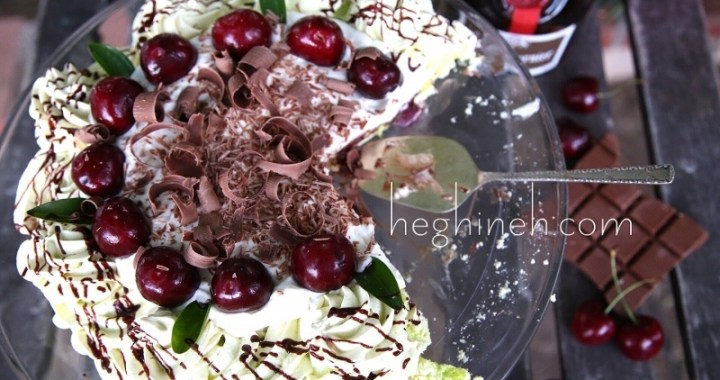 Drunk Cherries in Chocolate Pavlova Recipe