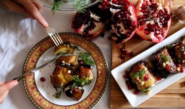 Rolled Eggplants Recipe - Armenian Cuisine