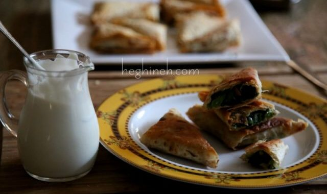 Herb Stuffed Bread Recipe by Heghineh