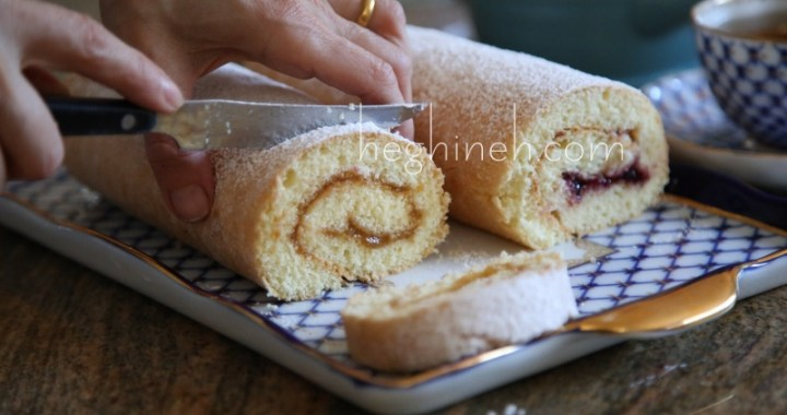Swiss Roll with Jam - Roulette Recipe
