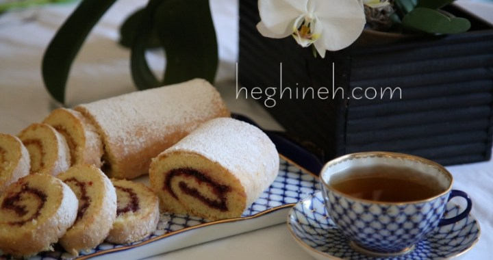 Swiss roll with jam roulette recipe heghineh cooking show swiss roll with jam roulette recipe forumfinder Choice Image