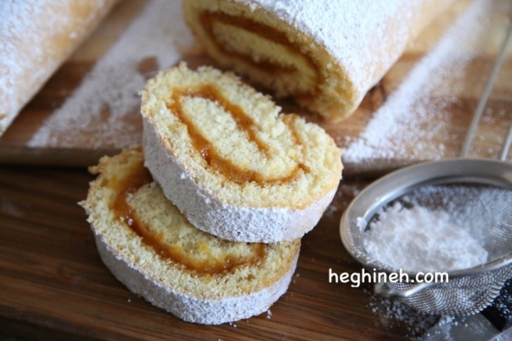 Swiss Roll with Jam - Roulette Recipe - Рулет