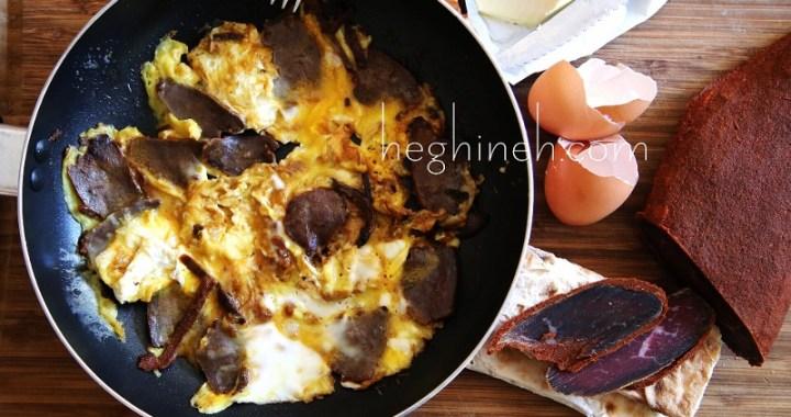 Basturma Omelette Recipe