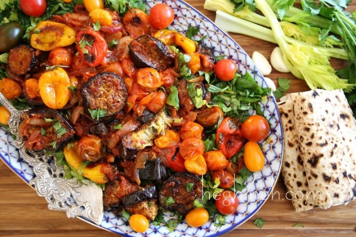 Celery Eggplant Salad Recipe - Armenian Cuisine