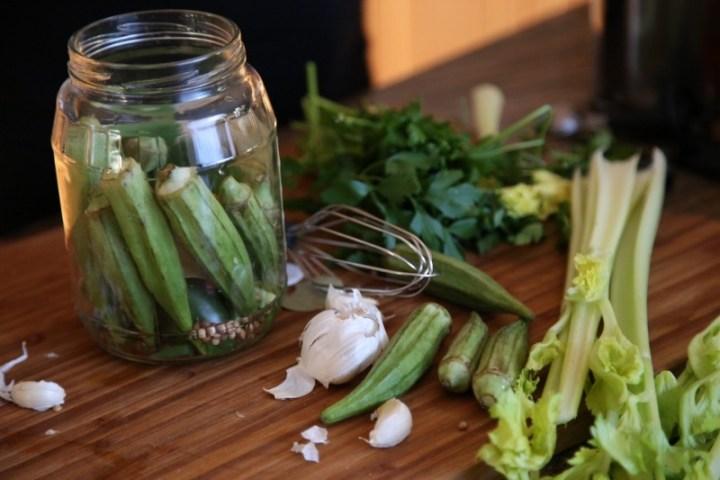 Pickled Okra Recipe - Pickled Vegetables - Heghineh ...