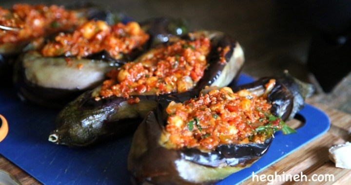 Chickpeas Stuffed Eggplants Recipe - Armenian Cuisine
