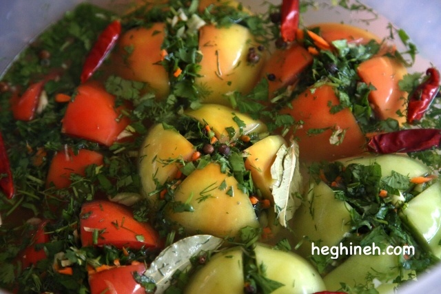 Stuffed Pickled Tomatoes - Armenian Cuisine