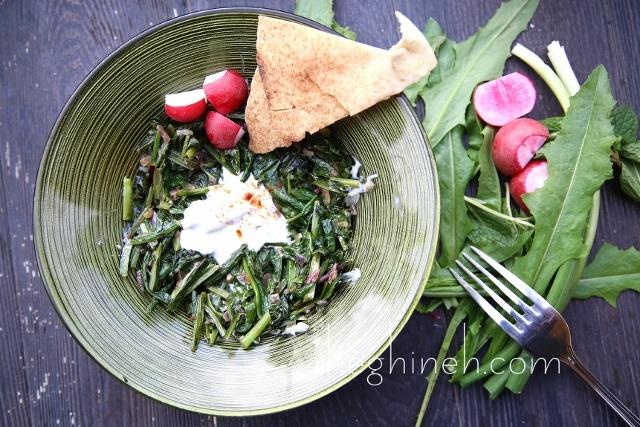 Warm Dandelion Dish Recipe by Heghineh