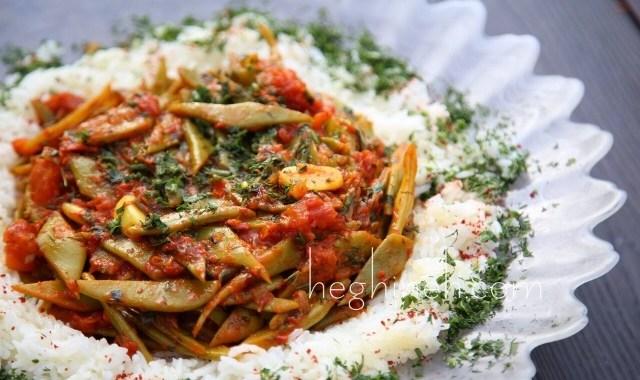 Green Beans Tomato Sauce Recipe - Armenian Cuisine