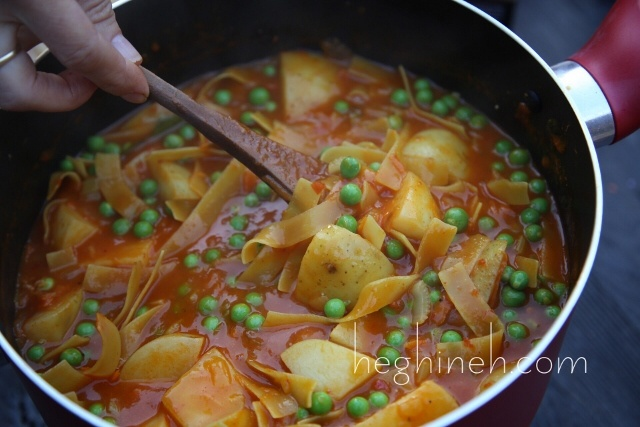 Potato Noodles Stew Recipe - Armenian Cuisine