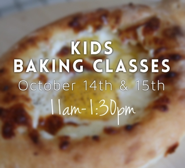 Kids Baking Classes October 14th-15th