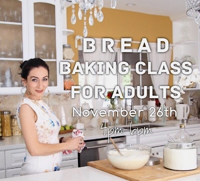 Bread Baking Class for Adults - November 26th