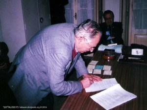 Assinatura da escritura pública em Notário | Moritz Abolnik | 1999
