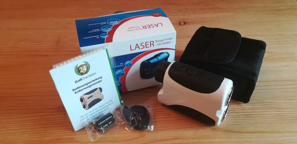 Lieferumfang des Golf Laser