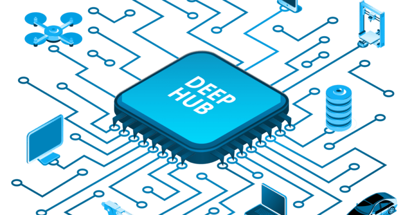 Graphic of the DeepHub as a central unit.