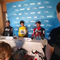 Post TT press conference. Tough effort at altitude.