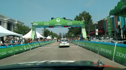 Dr. Heiden and the riders are on their last lap for Stage 5. About to blow up the next time up the hill ;)