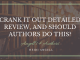 Crank It Out Detailed Review, and Should Authors Do This?