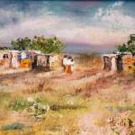 Shacks - a landscape by Heidi Beyers