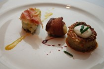 The first course by Chef Jon Fortes