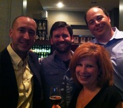 Heidi and the beer guys - from left - With Daniel Hartis, Cam Heiliger, Heidi Billotto and Matt McKenzie