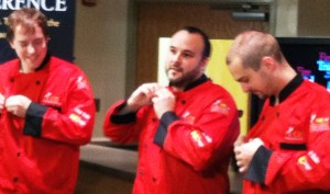 Team Mimosa donning the Coveted red chef jackets for the first time