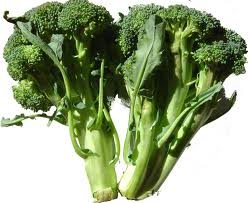 broccoli crowns, stems and leaves are all great to eat!