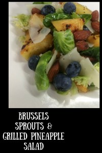 Brussels Sprouts & Grilled Pineapple Salad
