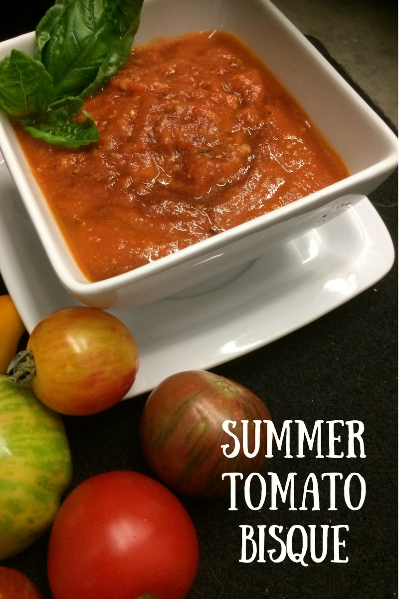 Homegrown Tomatoes -Summer Tomato Bisque