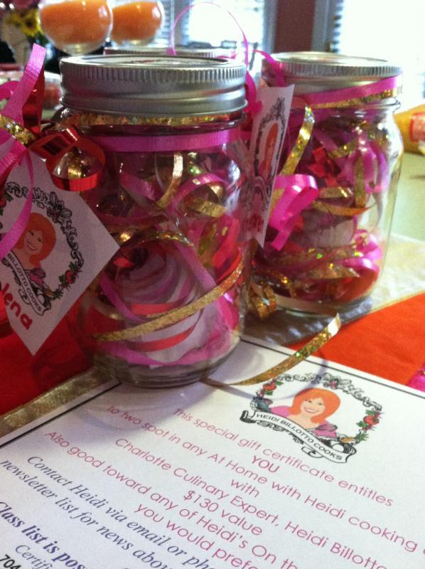 Gift Certificates for Heidi Billotto Cooking Classes