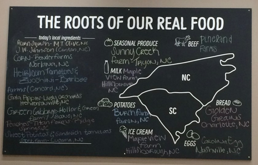 The NC and Sc root sof the local food at B.Good 2