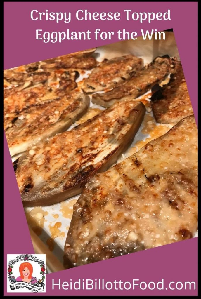 slices of eggplant with melted cheese