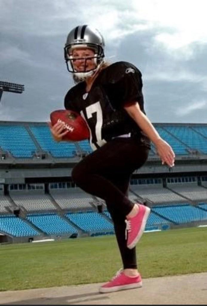 Heidi Billotto in football uniform