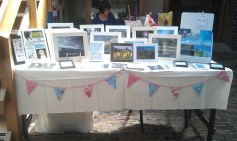 8th June 2013 - My table at todays Craft Fair at Weston-super-Mare Museum - complete with shiny new bunting :-)